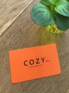 cozy garden メンバーズカード