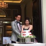 cozyの庭 結婚式 ケーキカット